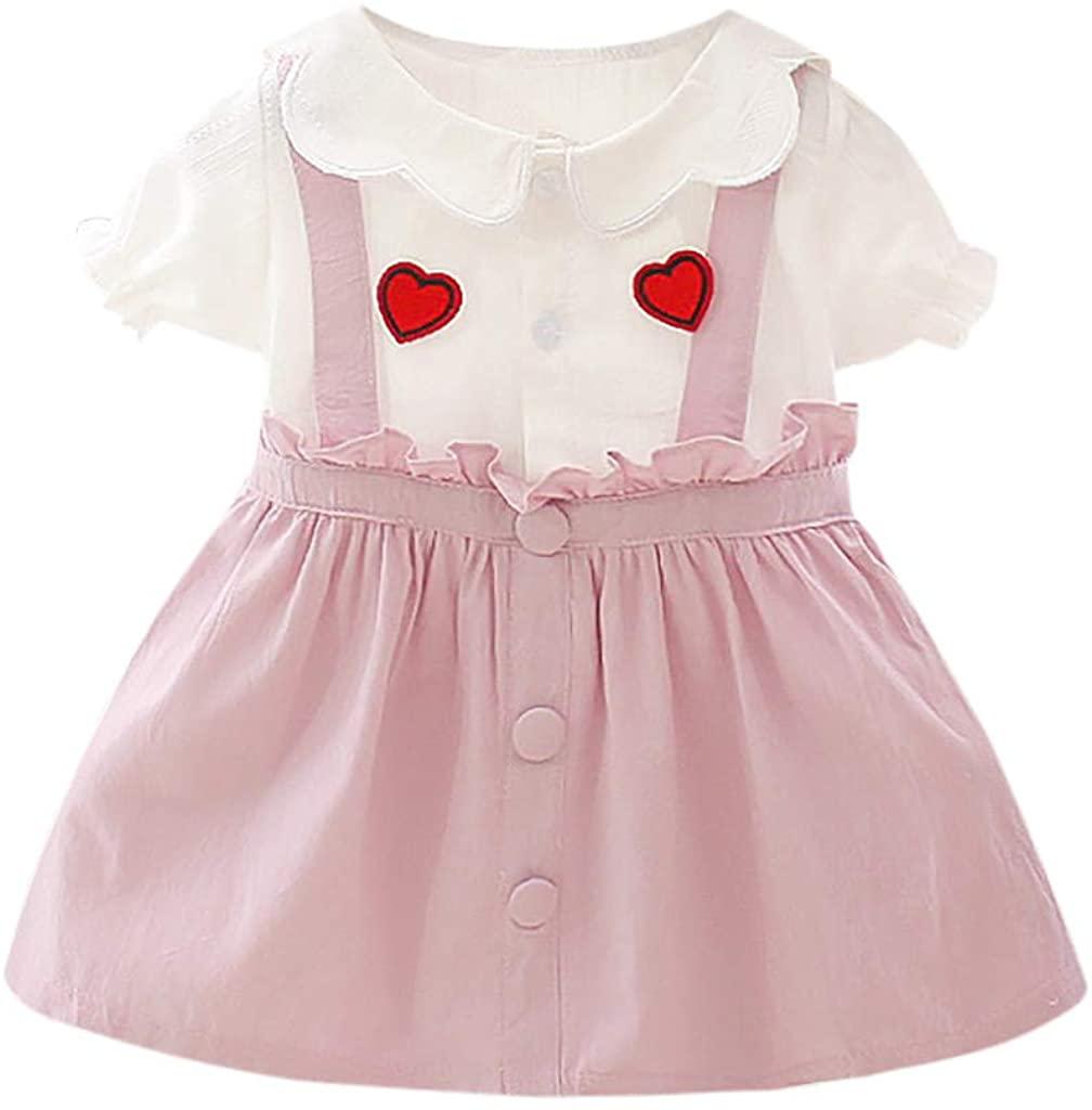 어린 소녀 PLEATED TULLE 스커트 RQWEIN 유아 유아 아기 소녀 옷 프릴 민소매 여름 공주 스커트