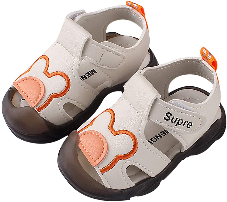 아기 샌들 여름 해변 산책 신발 유아 만화 곰 스트랩 신발