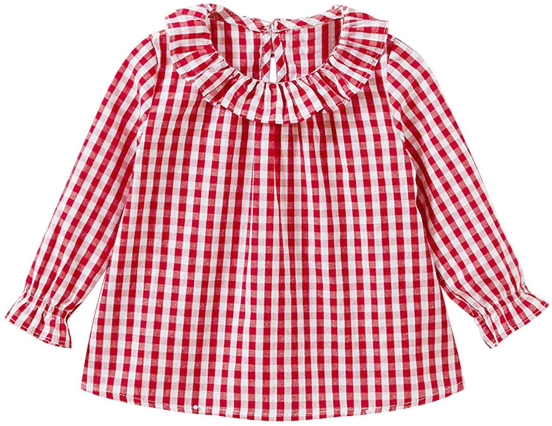 YOOJIA 유아 아기 소녀 긴 소매 블라우스 캐주얼 표 셔츠 면름 T-셔츠