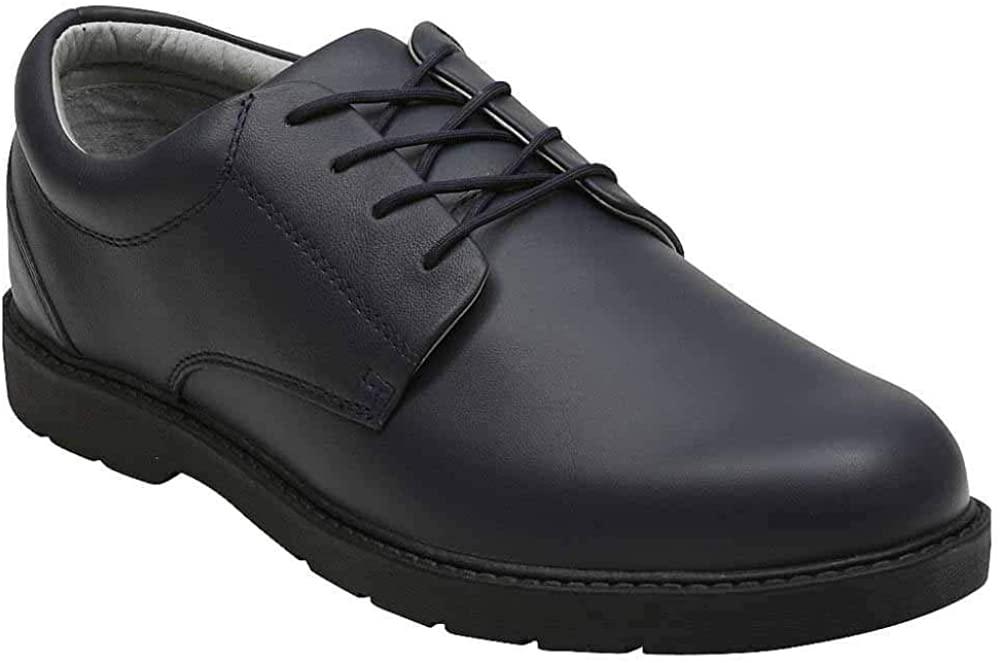 학교의 문제로 아이 소년 학자 드레스 신발-블루