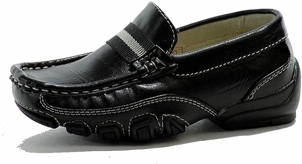 쉬운 스트라이더 소년의 아카데미 패션 로퍼 학교 유니폼 신발(4-큰 아이 블랙)