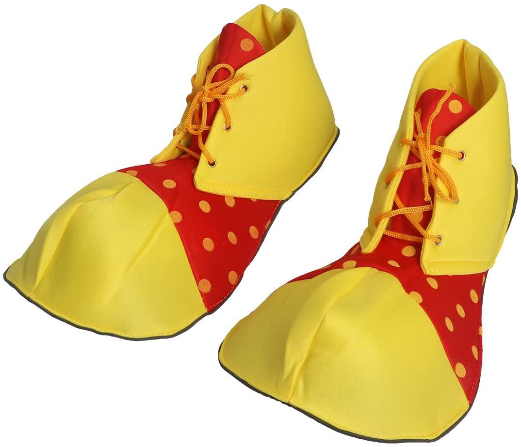 성인 카니발 놀이 공원 광대 의상을위한 BESTOYARD 할로윈 광대 의상 신발