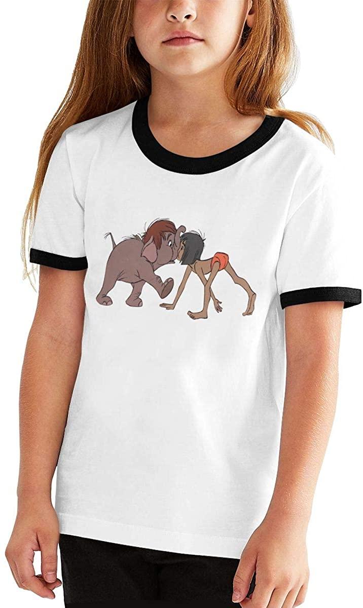 청소년 티셔츠 정글-책의 모글리 코끼리 유머러스 한 소년 소녀 반팔 티셔츠 십대 티셔츠 탑스