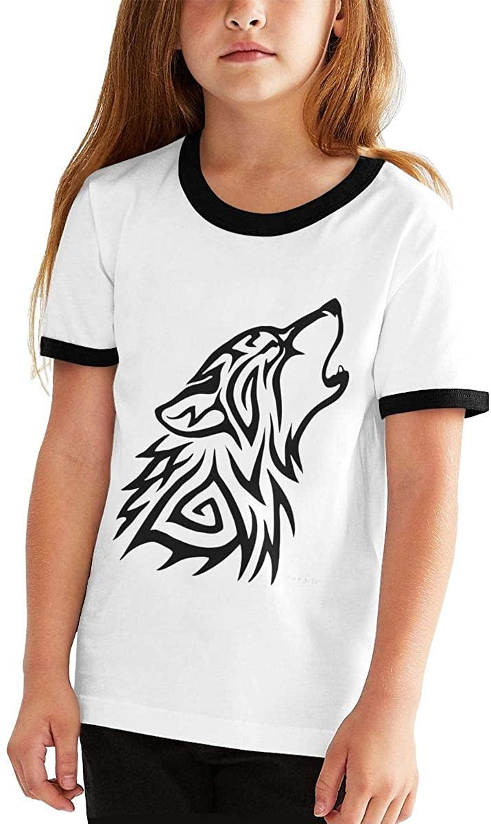 청소년 T-셔츠 TRIBAL-늑대는 소년 소녀 T-셔츠 패션 티 대 T-셔츠 스포츠 귀여운