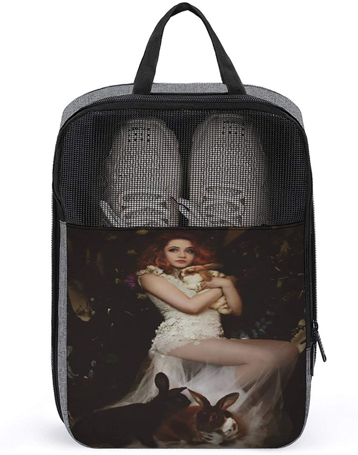 PLASVB JANET DEVLIN OUTDOOR TRAVEL SHOE BOX STORAGE BAG STRONG AND DURABLE SNOWFLAKE CLOTH ONE SIZE