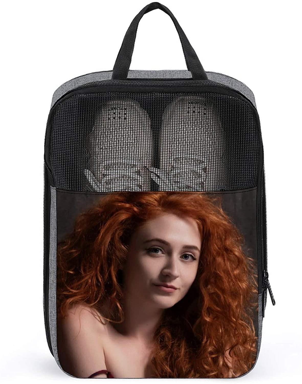 PLASVB JANET DEVLIN FASHIONABLE PORTABLE SHOE BAG 3D PRINTING VIVID PATTERNS TRAVEL STORAGE BAG