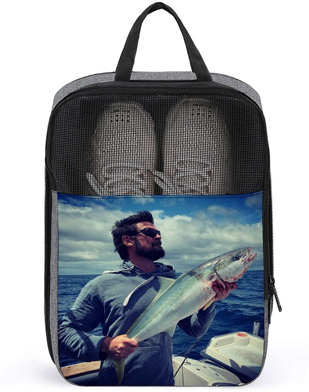 PLASVB KARL URBAN FASHIONABLE PORTABLE SHOE BAG 3D PRINTING VIVID PATTERNS TRAVEL STORAGE BAG