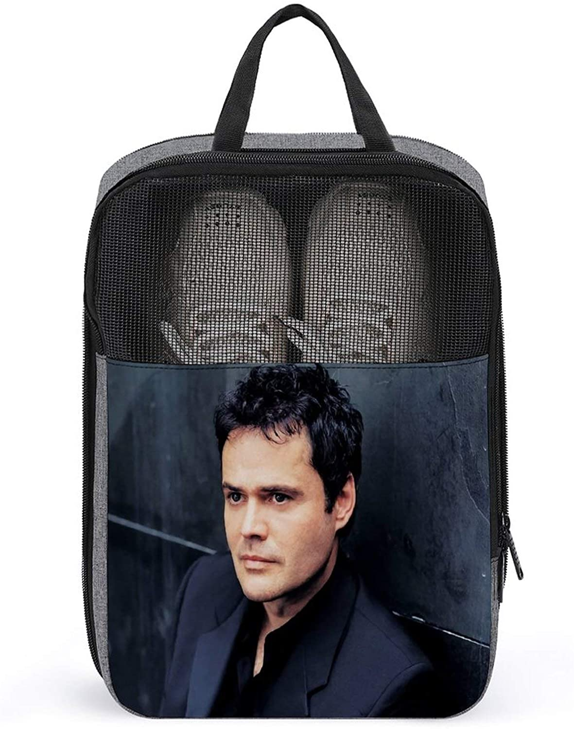 PLASVB DONNY OSMOND OUTDOOR TRAVEL SHOE BOX STORAGE BAG STRONG AND DURABLE SNOWFLAKE CLOTH ONE SIZE