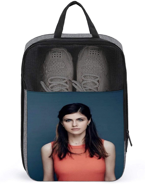 PLASVB ALEXANDRA DADDARIO 야외 여행 신발 상자 보관 가방 강력하고 내구성 눈송이 천 한 크기