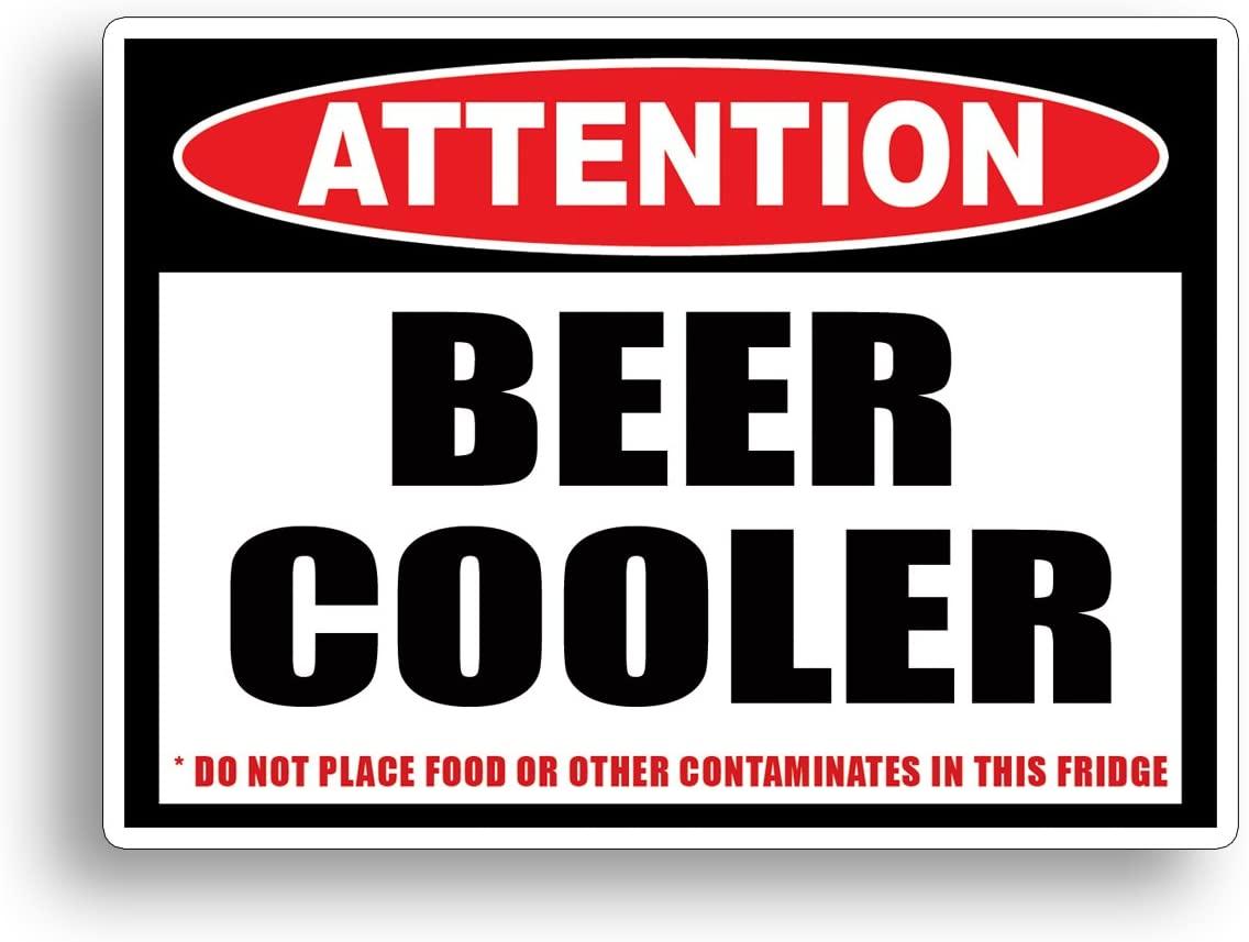 맥주 쿨러 경고 스티커 재미 주의 주의 술 마시는 파티 비닐 데칼