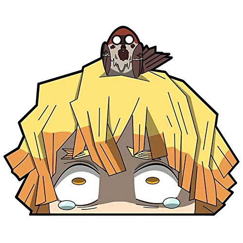 얼 패밀리 5.1`` 악마 슬레이어 피커 재미 자동차 스티커 자동 비닐 자동차 데칼 앞 유리 윈도우 애니메이션 스티커
