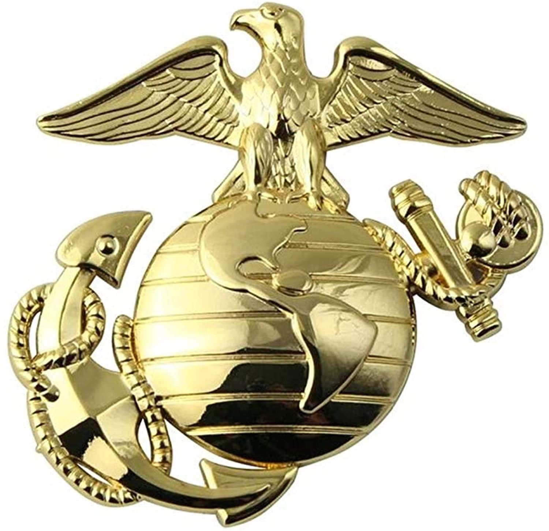 미국 해병대 EGA 골드 메탈 오토 엠블럼