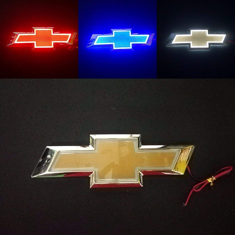 시보레 홀든 크루즈 말리부 EPICA CAPTIVA AVEO LOVR 자동차의 모든 시보레에 대한 5D LED 자동차 꼬리 로고 라이트 배지 램프 엠블럼 (화이트)