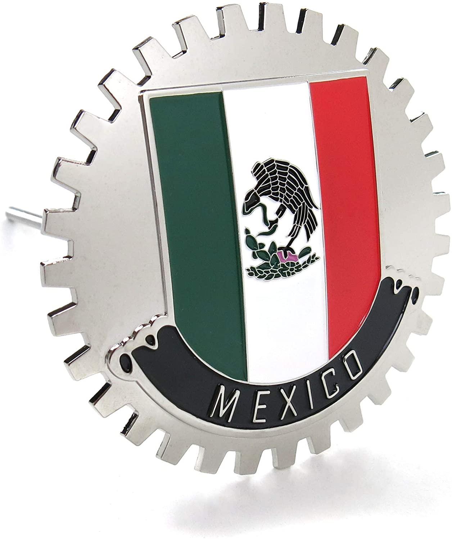 오토록   멕시코 메달리온 프론트 그릴   후드   트렁크 엠블럼 교체 배지 멕시코 플래그 새로운 빛나는 라운드 트럭 SS 포드 F150 F250 F350 시보레 실버라도 1500 2500 시보레 C10 C15 호환