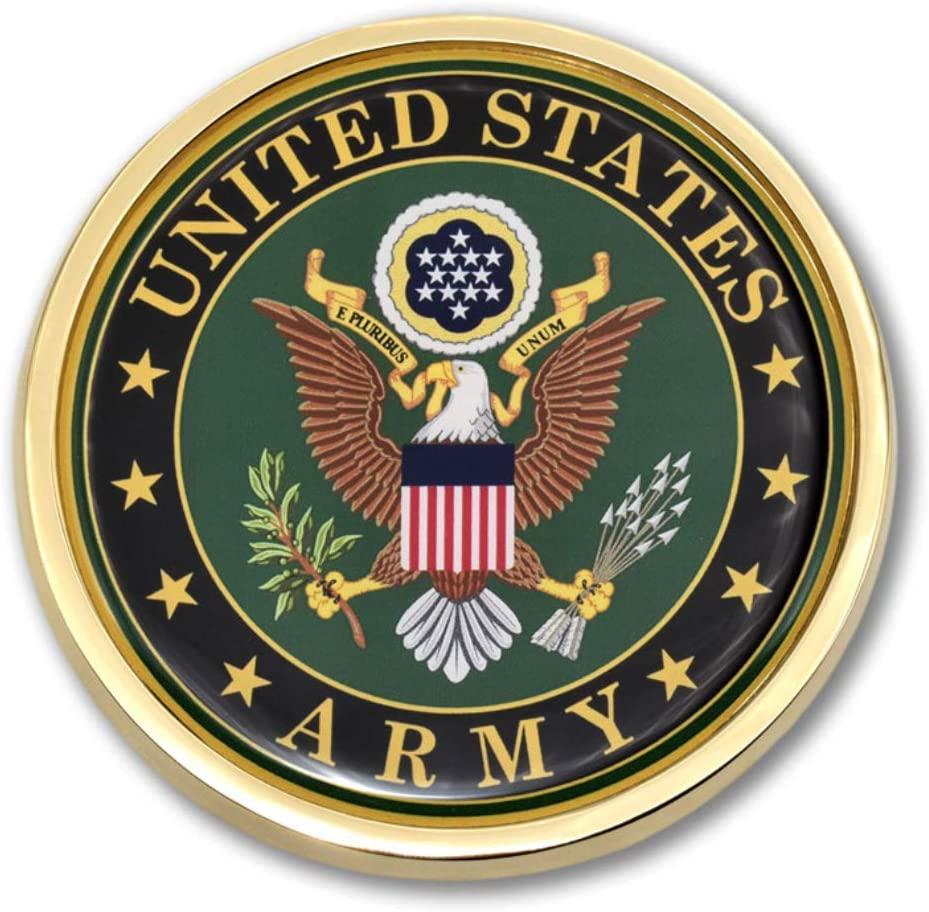 미 육군 크레스트 크롬 자동 엠블럼