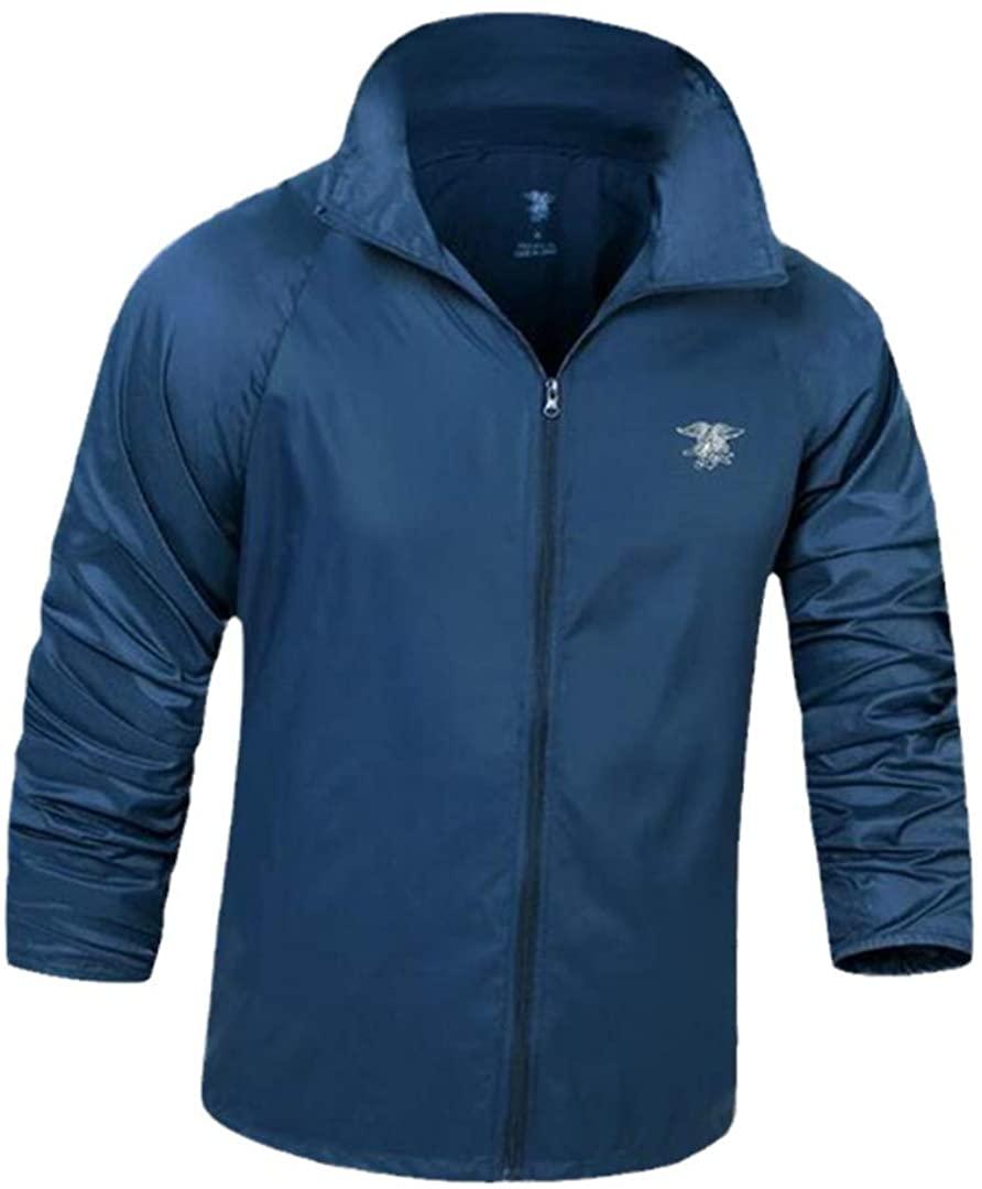 OTNZQZYF 야외 승마 스포츠 재킷 남자 등반 캠핑 하이킹 낚시 방수 위장 얇은 코트