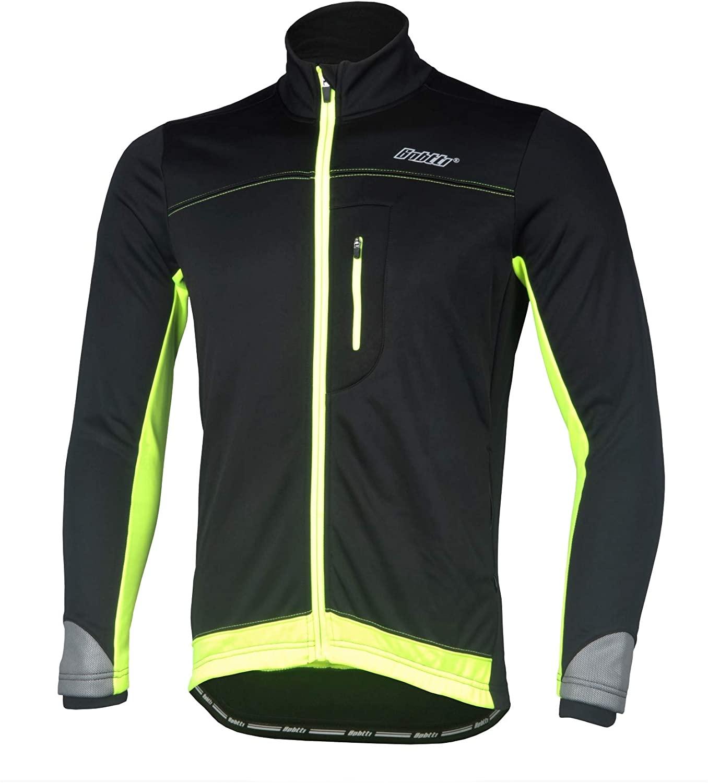 BPBTTI 남성 소프트 쉘 사이클링 실행 열 재킷 프로포언스 코트 겨울 - 방풍 통기성 및 반사