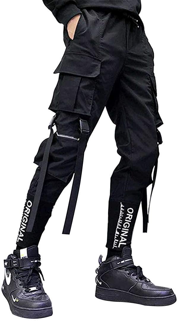 AELFRIC 에덴 남성 TECHWEAR 카고 바지 패션 조깅 힙합 펑크 스웨트 바지 DRAWSTRING