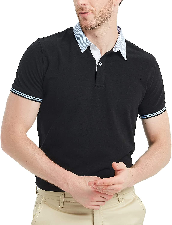 남자를 위한 개빈 블루 나비팔콘 피크 코튼 폴로 셔츠