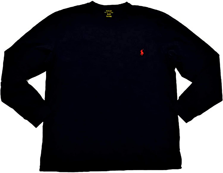 랄프 로렌 폴로 맨 롱 슬리브 포니 로고 티셔츠 (스몰 블랙 | 레드 포니)