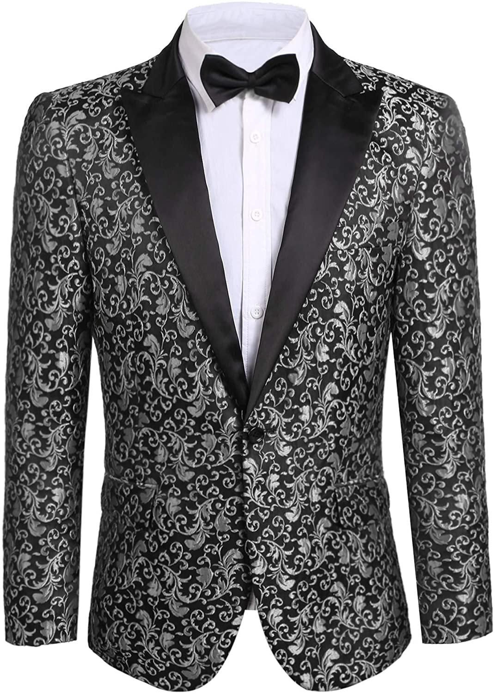 지니두 남성 꽃 파티 드레스 수트 스타일리시 한 디너 재킷 웨딩 블레이저 프롬 턱시도