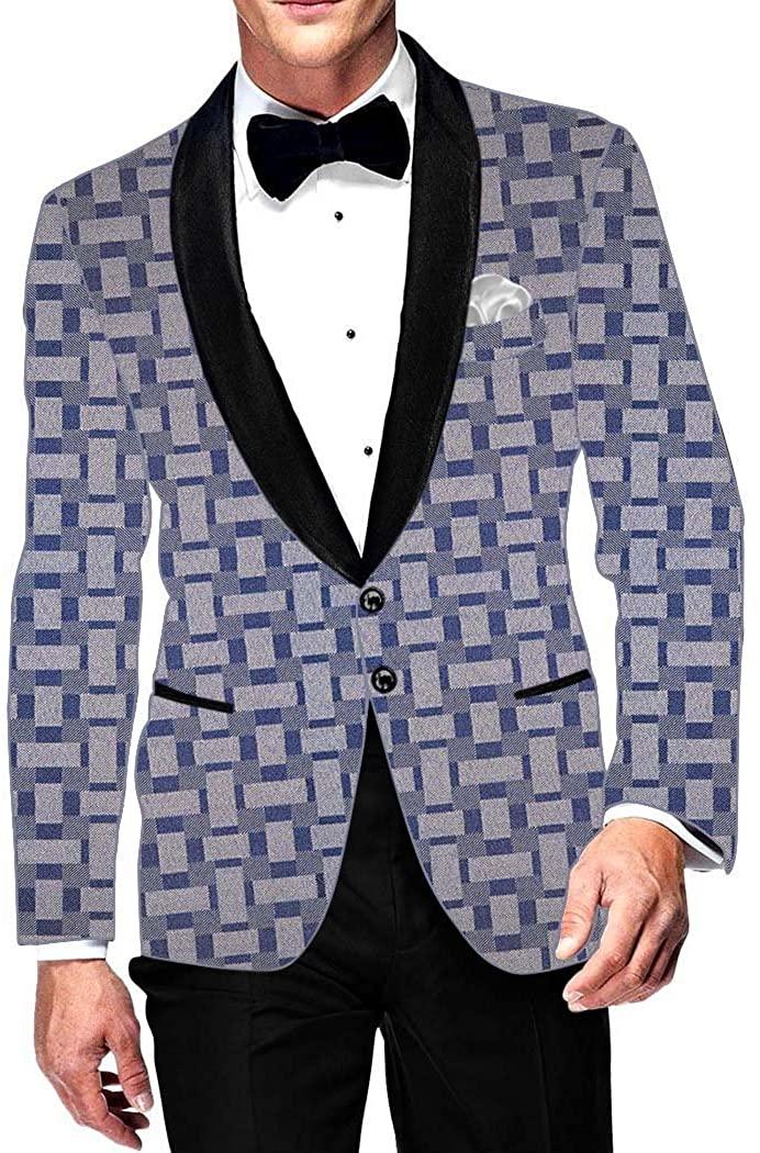 INMONARCH 남성 슬림 핏 캐주얼 내추럴 스포츠 재킷 웨딩 SB15834