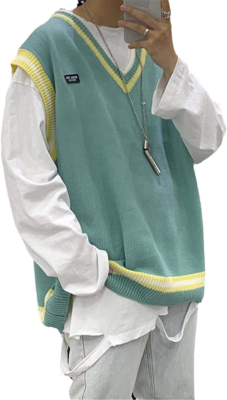 스웨터 베스트 맨 프린트 레저 시크 커플 V 넥 레트로 남성 슬리브리스 스웨터 탑스 아웃웨어