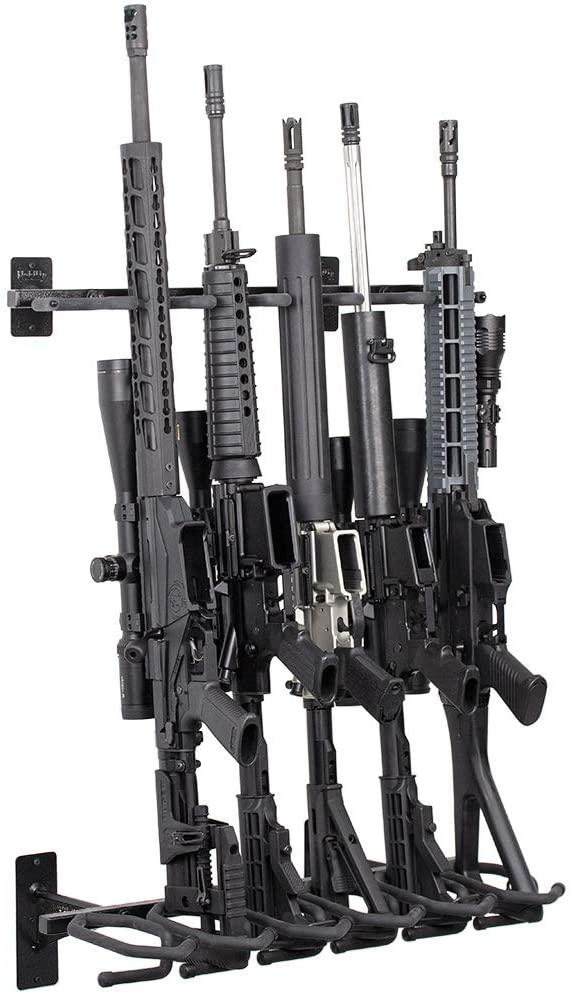 개최지를 표시합니다-총 선반 및 소총장 보유하고 6 윈체스터 레밍턴 루 거기에 더 무거운 강철-미국에서 만든