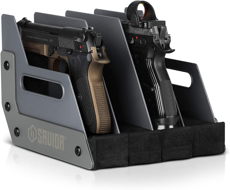구세주는 장비 총을 권총 총 권총 랙 스탠드 맞 4-8 의 대부분의 질주총 쿠션 거품을 보호하는 총 안전한 장소는 주최자 부속품