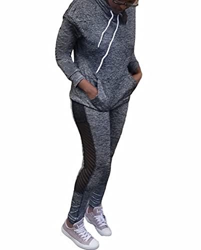 여성을위한 운동 세트 2 조각 체육관 레깅스 일치하는 복장