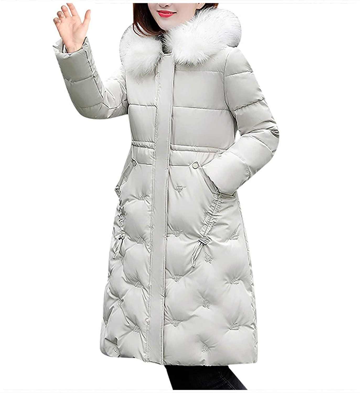 SERYU WOMENS WINTER JACKET 따뜻한 오버 코트 슬림 모피 칼라 지퍼 두꺼운 코트 아웃웨어