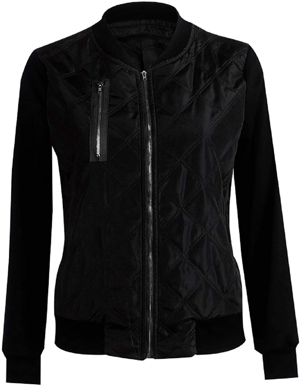 여성용 경량 퀼트 자켓 코트 긴 소매 지퍼 업 라글란 비행 폭격기 자켓 아웃웨어