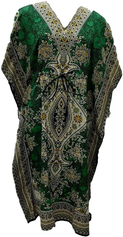 DELENA DESIGNS WOMEN`S LONG KAFTAN DRESS MAXI CAFTAN DRESS GOWN TOP NIGHT DRESS