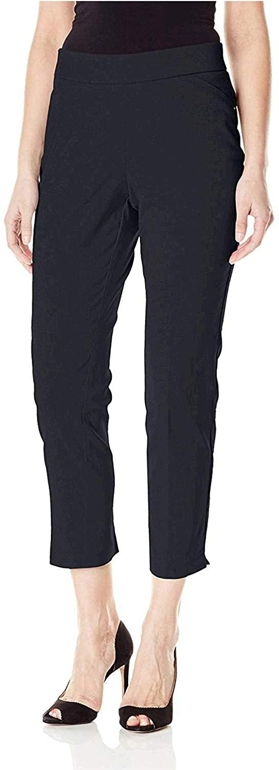 BRIGGS NEW YORK WOMEN`S SUPER STRETCH MILLENNIUM SLIMMING PULL-ON ANKLE PANT