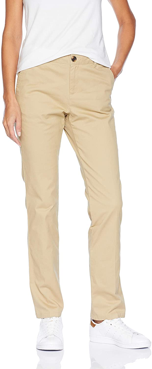 AMAZON ESSENTIALS WOMEN`S STRAIGHT-FIT STRETCH TWILL CHINO PANT