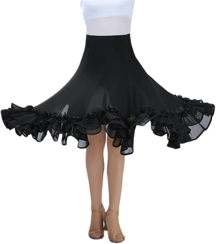 CISMARK 우아한 볼룸 댄스 라틴 댄스 스커트 여성용