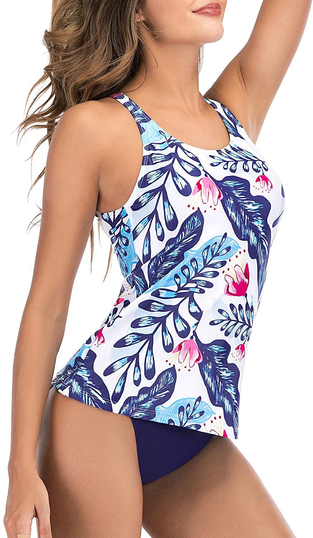 여성용 수영복 TANKINI 탑 하이 넥 홀터 투피스 수영복 여성용 수영복 수영복