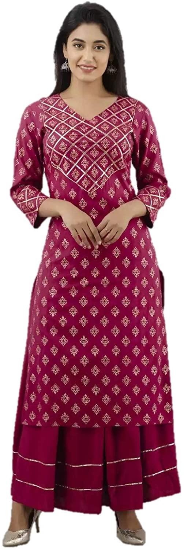 KURTA SET FOR WOMEN INDIAN DESIGNER STRAIGHT A-LINE KURTI SET FOR WOMEN READYMADE