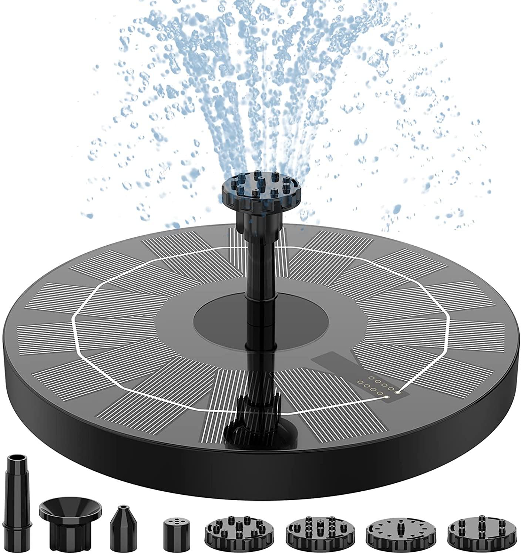 AISITIN 태양 샘 펌프 2.5W6.3 태양 강화된 물 분수 펌프 6 개의 노즐 태양 전지 목욕 부동을 위한 분수 정원 연못 물고기 탱크 야외 수족관