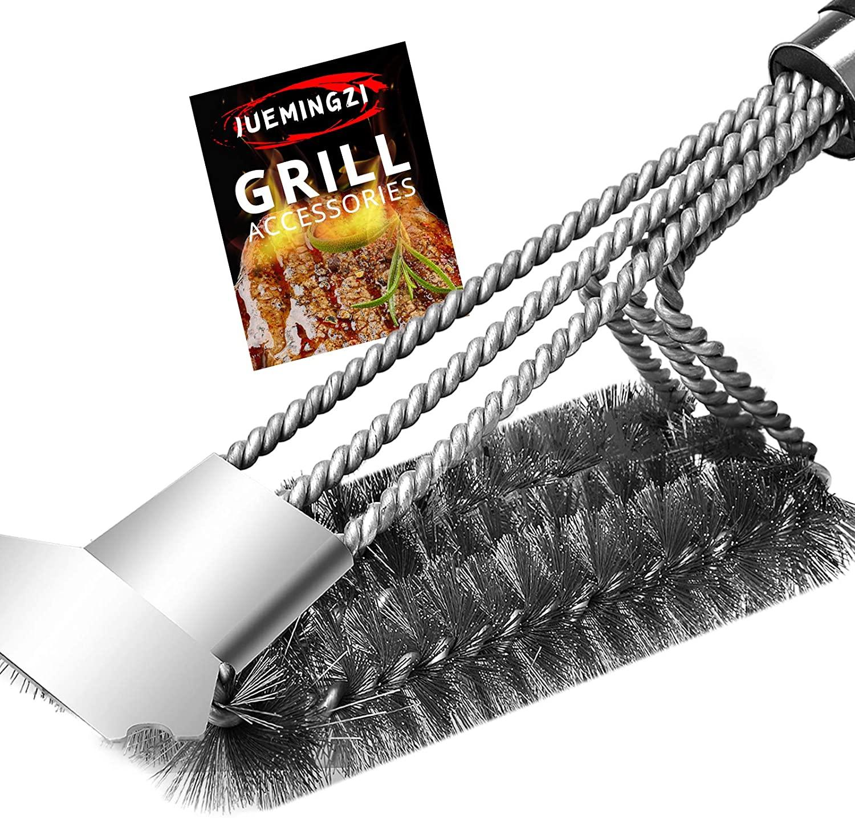 JUEMINGZI GRILL 브러쉬 브 무료 스크레이퍼-최 바베큐기 액세서리 -100%녹 방지 스테인리스 스틸 바비큐 청소기 위해 최선 WEBER 가스 목탄 모든 굽고 거슬리는 소리|액세서리를 선물