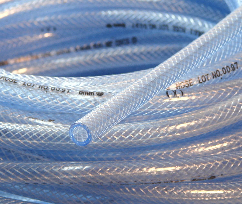3 | 8(10MM)ID10FT 고압 꼰 PVC 튜브 클리어 호스 브레이드 강화