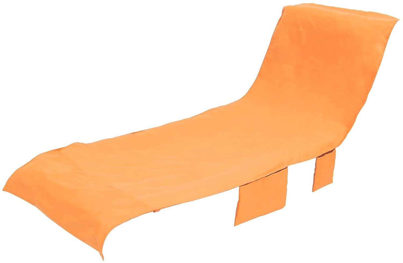응용 프로그램 체이스 라운지 수영장 의자 커버 비치 타월 안락 라이너 커버 비치 타월 장착 포켓 슬라이드 하지 않습니다 10 L X 8.25