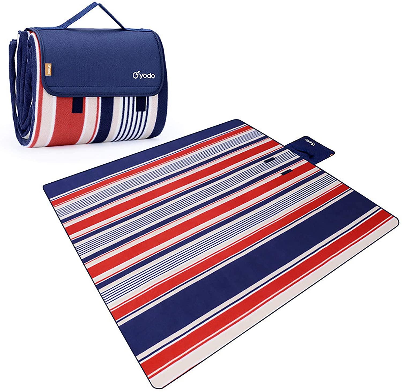 WLDQ 피크닉 담요 야외 담요 방수 모래 방지 휴대용 쉬운 접이식 세탁기 세척 가능
