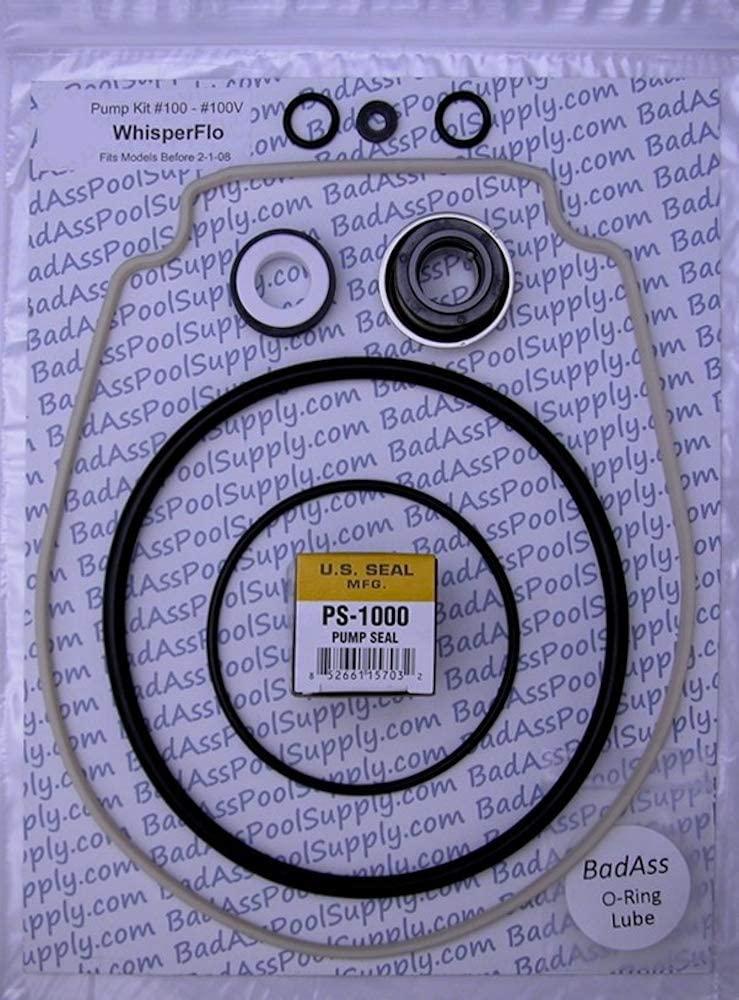 펜테어 위스퍼플로 잉텔리플로 아몬드 개스킷을 위한 BADASS 풀 공급 O-링 리뉴징 수리 키트 12 | 98 THRU 1 | 08 GO KIT 32