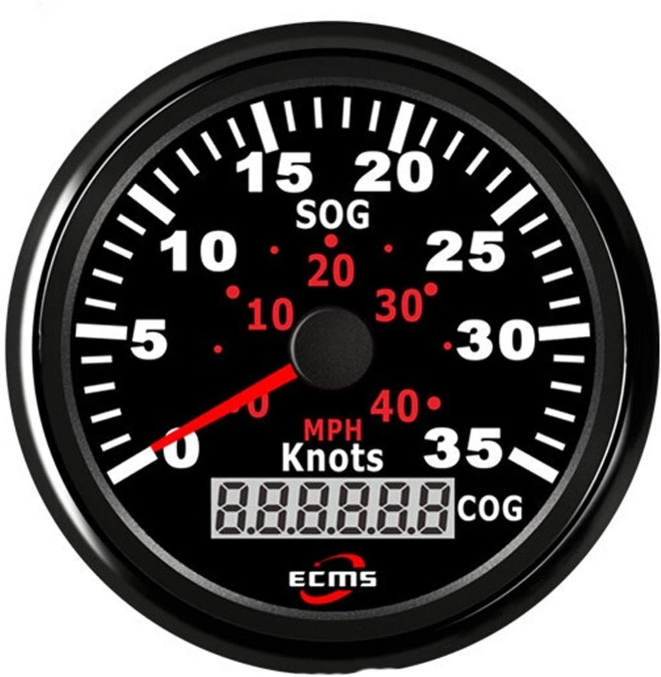 GPS SPEEDOMETER ODOMETER 0-35KNOTS 0-40MPH FOR BOAT YACHT VESSELS BACKLIGHT 3-3 | 8``(85MM) 12V | 24V