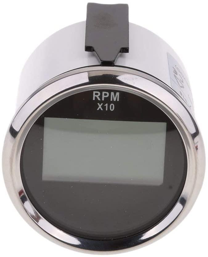 ELING UNIVERSAL DIGITAL TACHOMETER RPM REV COUNTER RPM HOUR METER 52MM(2) 9-32V BACKLIGHT