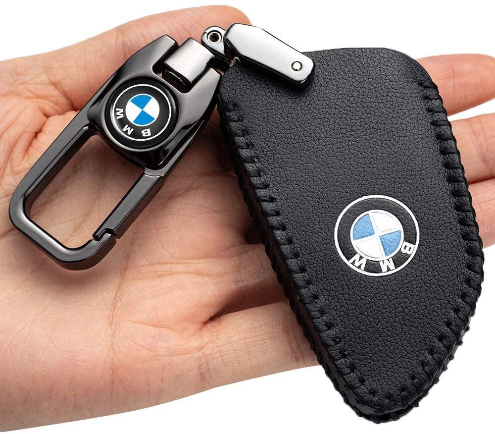 자동차 키 케이스 - BMW 3 | 4 버튼 X1 X2 X3 X5 X6 5 시리즈 2018 7 시리즈 2017 2시리즈 및 6 시리즈 GT 키 포브 커버키 홀더 스마트 카 리모컨 키 홀더용  가죽 보호기