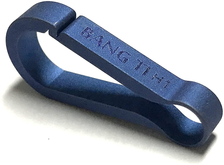 BANG TI 티타늄 퀵 릴리즈 키체인 후크 (내구성 통합 스프링 클립)