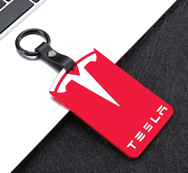 JWS 자동차 키 카드 홀더 는 테슬라 모델에 맞는 3 실리콘 보호커버 키 카드 키 체인 테슬라 모델 3 액세서리