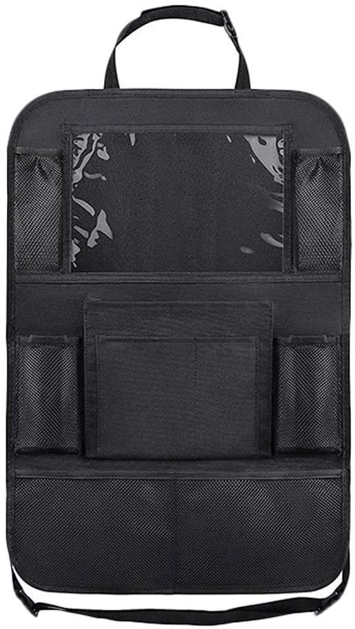 WGZ- 카시트 백 스토리지 가방 매달려 가방 카 뒷좌석 다기능 백레스트 테이블 수납 가방 내부 용품 백레스트 스토리지 (색상 : 블랙)